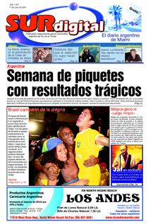 Primera portada de Semanario Argentino 1 de Julio de 2002
