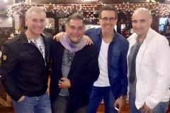 Lionel Uberman, Oscar Posedente, Alejandro Isturiz y Leo Okretich