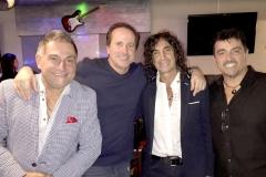 Oscar Posedente, Juan Herrero, Claudio Divanni y Caril Paura