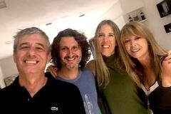 Julio Di Matteo, Fernando Ortuño, María Armandola y Adriana